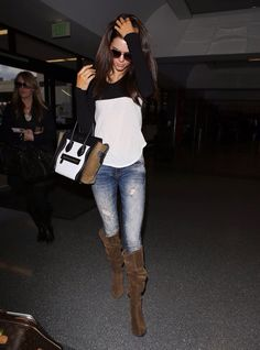 Kendall Jenner - love the boots and the jeans