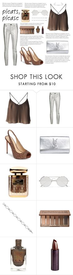 """""""Pleats please"""" by oliviadent ❤ liked on Polyvore featuring RtA, Imagine by Vince Camuto, Yves Saint Laurent, By Terry, Linda Farrow, Alor, Urban Decay, Serge Lutens Beauté and Jennifer Fisher"""