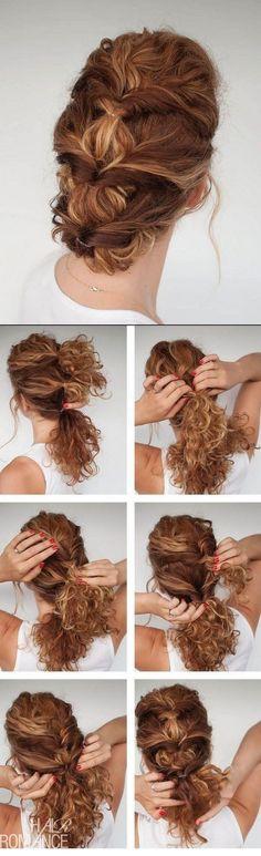 peinado de noche para pelo ondulado