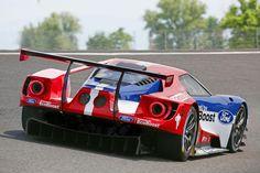 フォードのレースカーの後ろ姿。くるまフォードの特集