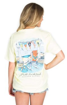 I'd rather be at the beach - I mean... Who wouldn't? #laurenjames #ljspring15 #beachtee