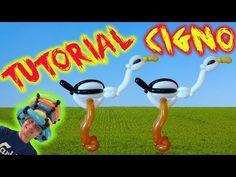 PALLONCINI MODELLABILI tutorial 30  CIGNO - YouTube