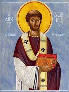 Bishop and miracle worker, also known as Aubin. When he was thirty five he became an abbot, and was named the bishop of Angers in 529. Albinus was a noted miracle worker during his lifetime and his grave became a popular pilgrimage destination because of the miracles performed there. He showed great generosity to the sick and poor. He ransomed slaves whenever possible and cared for them. #Catholic #saintoftheday #prayforus #StAlbinus #Lent