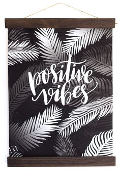Keep it positive this year with this positive vibes wall hanging.