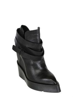 CINZIA ARAIA - 130MM LEATHER WEDGES - LUISAVIAROMA - LUXURY SHOPPING WORLDWIDE SHIPPING - FLORENCE