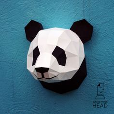 You can make your own panda head for wall decoration!  Printable DIY template (PDF) contains 6 pages. Use 160-240 g/m2 colored paper. Sizes of the head - 25 cm (A4) or 35 cm (A3). I would rather recommend using A3. If you need another size of finished sculpture, just change print scale and size of paper.  Check out our tutorials on youtube.com/channel/UCTO0rWB3sQv161fWv0yG79Q. More photos on www.behance.net/alisa_slonishyna and instagram.com/explore/tags/wastepaperhead.  Please, dont share…