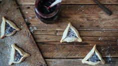 A three-cornered, soft buttery cookie traditionally eaten during the Jewish holiday Purim, our classic Hamantaschen recipe is made from scratch and filled with your favorite flavor of jam or preserves.