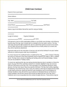 Printable Enrollment And Sample Contract Formshttp