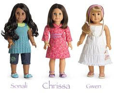 yes there were three girls of the year the main caracter is chrissa. i want her so bad but it hard to find a good price on ebay or amazon.