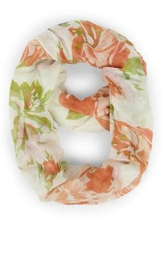 Deb Shops Infinity Scarf with Large Floral Print $9.00