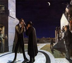 Paul Delvaux - Phases of the Moon III (1942)