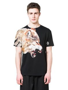 Marcelo Burlon Fall 2016 T-shirt: cruces, wolf Man Shop, Fall 2016, Wolf, Mens Tops, T Shirt, Fall Winter, Shopping, Fashion, Supreme T Shirt