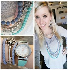 Get ready for spring with #premierdesigns Sugar Rush necklace, Keeper wrap bracelet and Quick Change watch