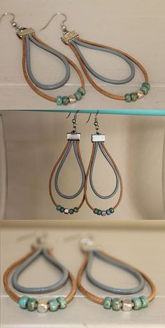 Suede Cord for Jewelry Making Online Diy Leather Earrings, Beaded Earrings, Earrings Handmade, Handmade Jewelry, Custom Jewelry, Fabric Jewelry, Wire Jewelry, Jewelry Crafts, Beaded Jewelry