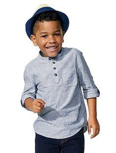 Chemise col mao coton et lin Garçon à 8,00€ - Découvrez nos collections mode à petits prix dans notre rayon Chemise manches longues.