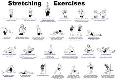 stretches - really good illustrations and descriptions if you click the link, but HOLY LORD, that is a massive image!