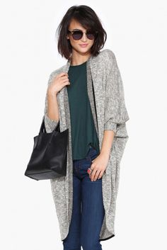 Elison Cardigan in Taupe | Necessary Clothing