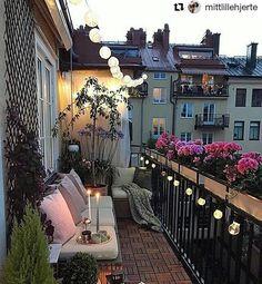 35 DIY Small Apartment Balcony Garden Ideas # Balcony Garden - b a l c o n y - Balkon