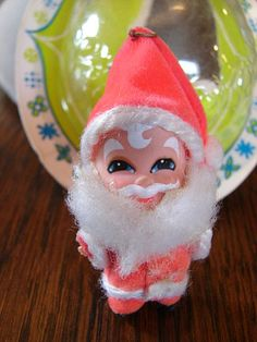 Little Kiddle Santa, I still have this little guy, we hide him in the Christmas tree every year.
