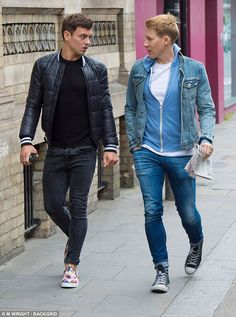 Partied too hard? Tom Daley, 22, and his new husband Dustin Lance Black, 42, looked slightly bleary-eyed on Monday as they stepped out for the first time since their weekend nuptials