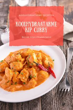 Koolhydraatarme Kip Curry Recept: Hmm onwijs lekker Low-carb Chicken Curry Recipe: Hmm very tasty! Curry Recipes, Gourmet Recipes, Low Carb Recipes, Healthy Recipes, Strudel, Boho Lifestyle, Good Food, Yummy Food, Pasta