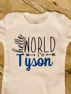 Mashed Clothing Hello Im Orla World Personalized Name Toddler//Kids Short Sleeve T-Shirt
