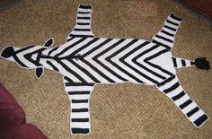 Crochet Zebra rug