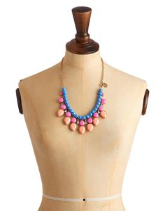 Joules Womens Beaded Necklace, Fluro Orange.                     Add a cluster of colour to your outfit with this stunning necklace. With stones in an array of different sizes, shapes and shades it's an attention grabbing statement piece that will bring life to anything you wear it with.