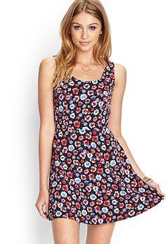 Floral Fit & Flare Dress | FOREVER21 - 2000062044