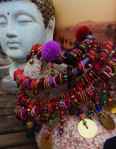 """"""" les gens des nuages"""" collier textile nomade , soie , façon haute couture : Collier par kokopelly"""