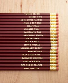 Rushmore Pencils Set of 18 by tiniestj on Etsy