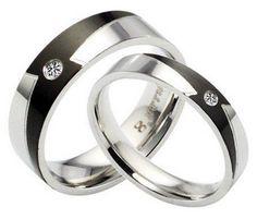 Titanium Wedding Rings Couple
