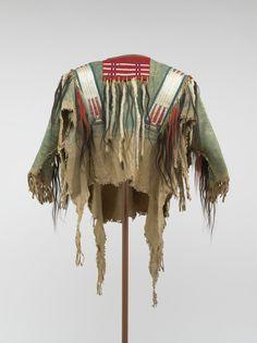 War Shirt (Primary Title) - - Virginia Museum of Fine Arts Native American Shirts, Native American Design, Native American Artifacts, American Indians, Plains Indians, Bead Loom Bracelets, Museum Of Fine Arts, Loom Beading, Nativity