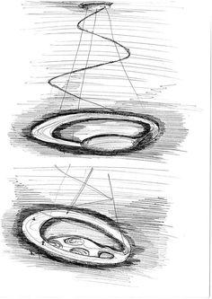 Sketches for the Glu collection for Fabbian Illuminazione spa #designsketches #fabbian #glu