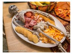 Skeleton platter - use premade meat and cheese tray like Hormel.
