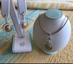 Pendant Set, Tan Leather, Seaside, Sterling Silver Jewelry, Washer Necklace, Chokers, Jewelry Design, Jewels, Earrings