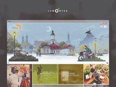 Website design of Visit.Bialystok.pl. Made by LemonTea.pl