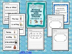 LMN Tree: Using Sentence Frames to Help Struggling Writers Make Sentences Fourth Grade Writing, Kindergarten Writing, Teaching Reading, Literacy, Teaching Ideas, Work On Writing, Sentence Writing, Writing Sentences, Writing Resources
