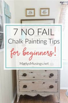 These 7 no fail chalk painting tips for beginners prove that anyone can learn to paint and are guaranteed to get you hooked on the latest craze and most fun way to paint furniture and home decor accessories!