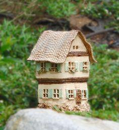Ceramic lantern old house Clay Houses, Ceramic Houses, Miniature Houses, Ceramic Lantern, Old Pottery, Little Houses, Mini Houses, Fairy Houses, Light Decorations
