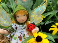 Flower Pixies - these dolls are wonderful! - from theThe Fairies' Nest - Cloth Dolls and Fiber Fantasies: Magic in my Garden