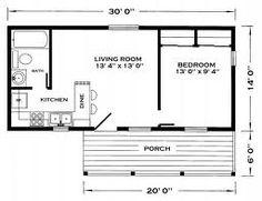 14x30 Tiny House 14X30H1A 419 sq ft Excellent Floor Plans
