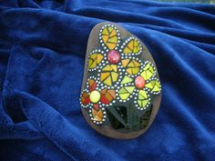Mosaic  Rock by TinasMosaics on Etsy, $48.00