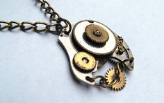 Cogs & Gears Steampunk Vintage Watch Parts Necklace by Jamlincrow, £18.00