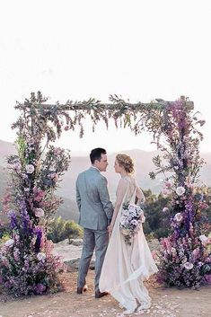 7 Traditional And Modern Wedding Ceremony Ideas To Make Your Wedding Day Memorable ❤ wedding ceremony altar ideas woodeh arch decorated with lilac flowers pacoandbetty via instagram #weddingforward #wedding #bride #weddingdecor #weddingceremonyideas #weddingcolors