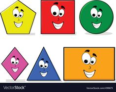 Learning shapes vector image on VectorStock Happy Cartoon, Cartoon Faces, Learning Shapes, Kids Learning, Free Vector Images, Vector Free, Serbian Language, Vegetable Cartoon, Basic Geometry
