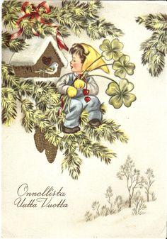 vanhoja syntymäpäiväkortteja - Google-haku Album, Children, Christmas, Heaven, Painting, Illustrations, Fictional Characters, Google, Art