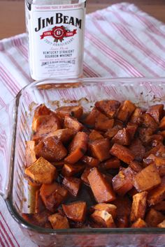 Kentucky Derby Bourbon Sweet Potatoes - Ok, so trying to stay healthy but this looks so yummy... maybe if I went light on the syrupyness I could justify trying this for a dessert?