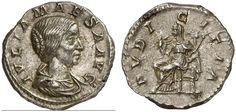 AR Denarius. Roman Coin, Roman Empire, Julia Maesa, grandmother of Elagabalus, +225 AD. 218-222 AD. 3,40g. RIC 50, 268. EF. Price realized 2011: 140 USD.