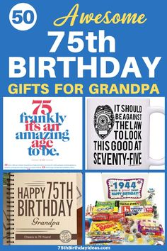 Looking for the best birthday gift ideas for Grandpa? Thrill him with the perfect present! Shop 50 amazing gifts for the 75 year old grandpa. Grandpa Birthday Gifts, Birthday Gag Gifts, Birthday Gift Baskets, Birthday Candy, Birthday Gift For Him, Grandpa Gifts, Dad Birthday, Birthday Crafts, Birthday Ideas